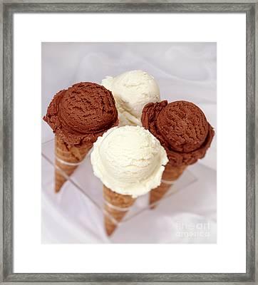 Ice Cream Cones Framed Print