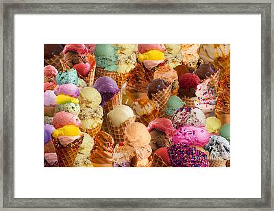 Ice Cream Crazy Framed Print by Alixandra Mullins
