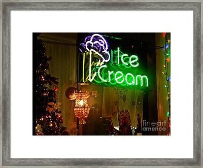 Ice Cream Decorated For Christmas Framed Print