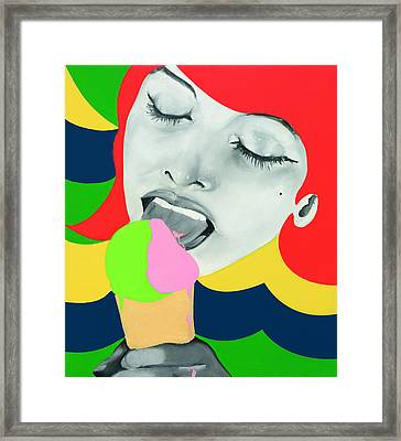 Ice Cream Framed Print by Evelyne Axell