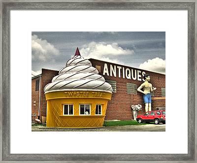Ice Cream Framed Print by Jane Linders