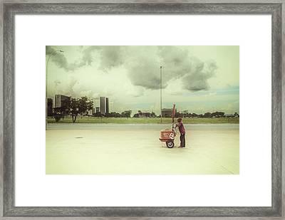 Ice Cream Man Framed Print by Santiago Tomas Gutiez