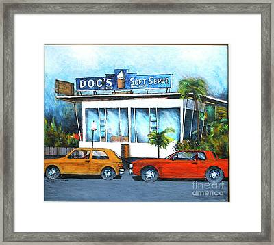 Ice Cream Restaurant In Delray Beach Fl Framed Print