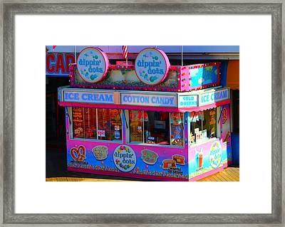 Ice Cream Stand At The Seaside Heights Boardwalk Framed Print