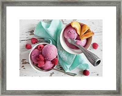 Ice Cream Framed Print by Verdina Anna