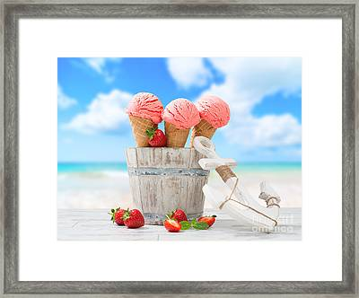 Ice Creams On Vacation Framed Print by Amanda Elwell