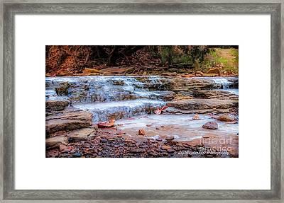Ice Creek Framed Print