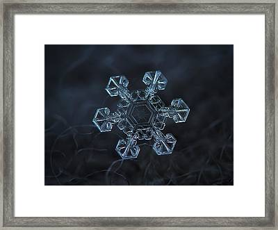 Framed Print featuring the photograph Snowflake Photo - Ice Crown by Alexey Kljatov