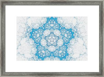 Framed Print featuring the digital art Ice Crystals by GJ Blackman