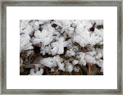 Ice Crystals Framed Print