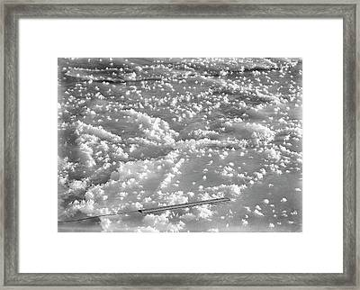 Ice Crystals On Antarctic Ice Framed Print
