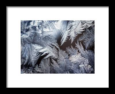 Ice Crystals Framed Prints