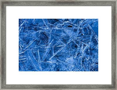 Ice Crystals Framed Print by Teri Virbickis