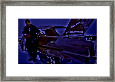 Ice Cube And His Chevy Impala Framed Print by Brian Reaves