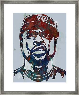 Ice Cube - Stylised Pop Art Sketch Poster Framed Print