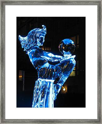 Ice Dancers Framed Print