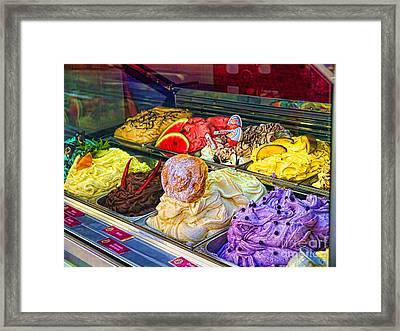 Ice Delight Framed Print by Gillian Singleton