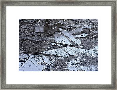 Ice Design Framed Print by Carolyn Reinhart