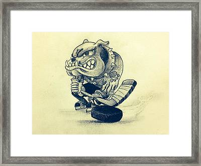 Ice Dogs  Framed Print