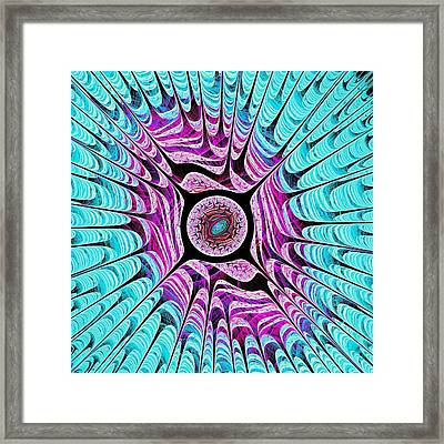Ice Dragon Eye Framed Print
