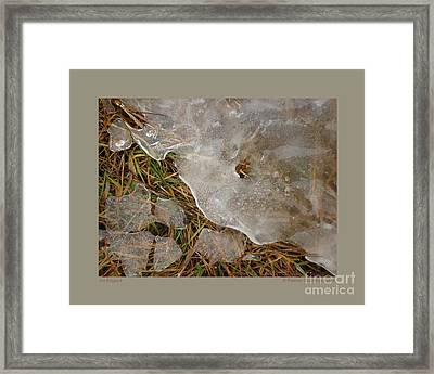 Ice Edges-i Framed Print by Patricia Overmoyer