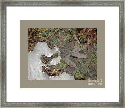 Ice Edges-ii Framed Print by Patricia Overmoyer