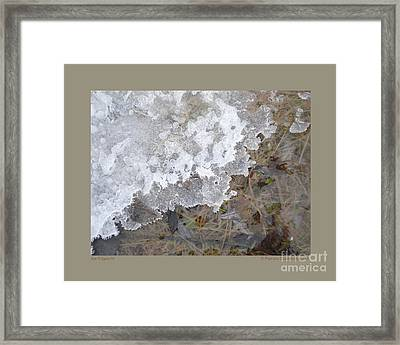 Ice Edges-iv Framed Print by Patricia Overmoyer