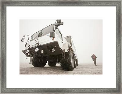 Ice Explorer Truck Framed Print by Ashley Cooper