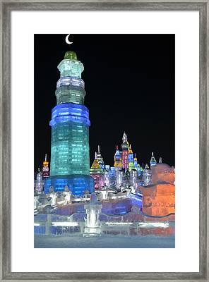 Ice Festival Framed Print by Brett Geyer