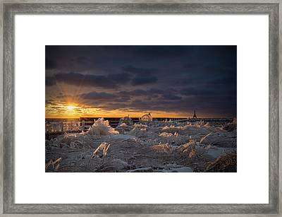 Ice Fields Framed Print
