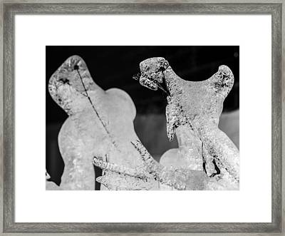 Ice Fight Framed Print by Carl Engman