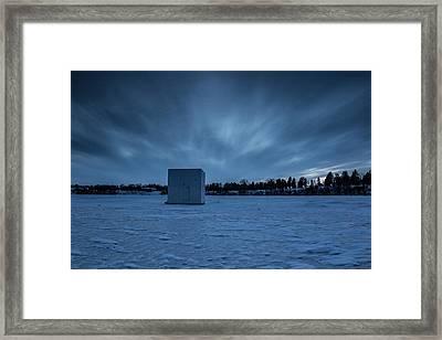 Ice Fishing Framed Print by Aaron J Groen