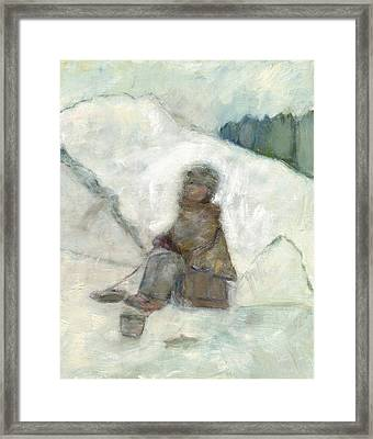 Ice Fishing Framed Print by David Dossett