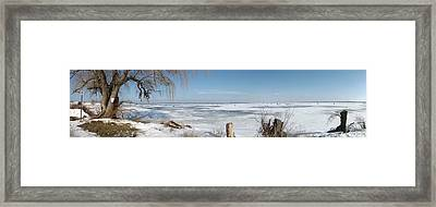 Ice Fishing Framed Print