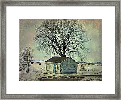 Ice Fishing  Framed Print by Dianne  Lacourciere