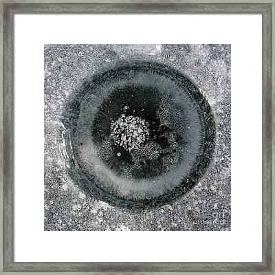 Ice Fishing Hole 9 Framed Print by Steven Ralser