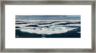 Ice Floes On The Arctic Ocean Framed Print