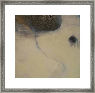 Ice Flow Framed Print by Diane Peters