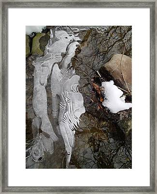 Ice Flow Framed Print by Robert Nickologianis