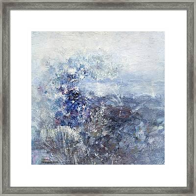 Ice Flowers Framed Print