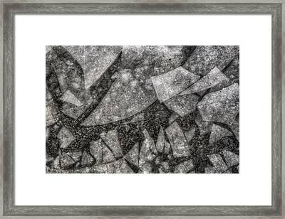 Ice Fractal Framed Print by Jason Politte