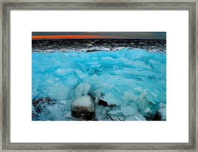 Ice Freeze # 2 - Horsey Bay - Kingston - Canada Framed Print