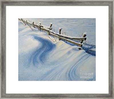 Ice Glitter Framed Print by Kiril Stanchev