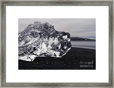 ice Framed Print by Gunnar Orn Arnason