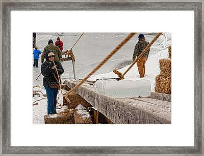 Ice Harvest Framed Print
