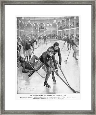 Ice Hockey, 1896 Framed Print by Granger