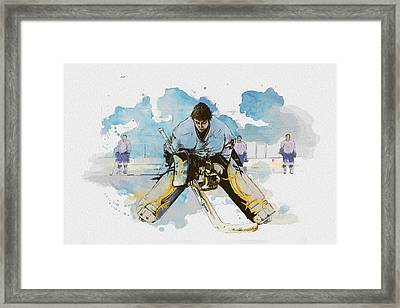 Ice Hockey Framed Print