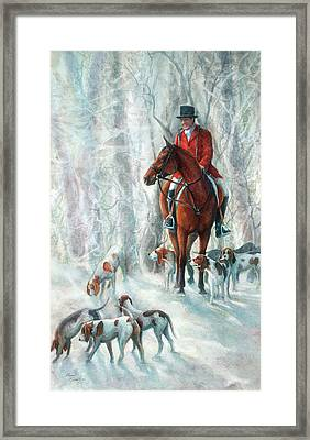 Ice Hounds Framed Print by Robyn Ryan