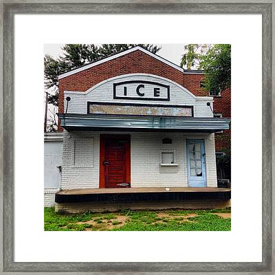 Ice House - Old Town Alexandria Framed Print