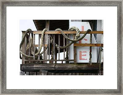 Ice House Framed Print by Paula Rountree Bischoff
